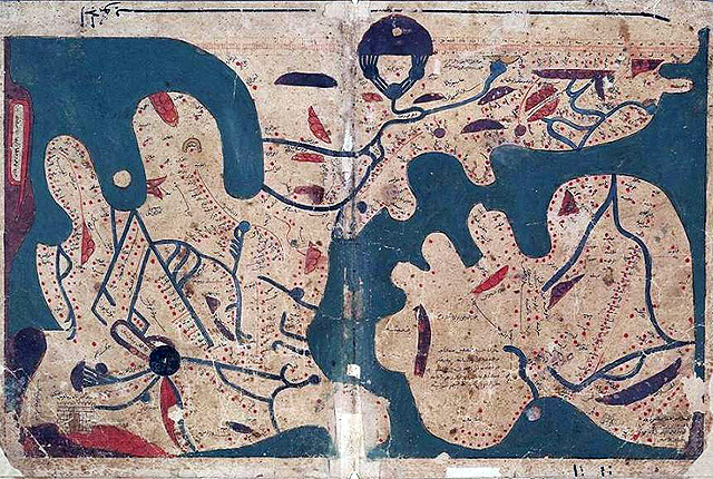 Top 10 Maps From Muslim Civilisation When North Was South And South