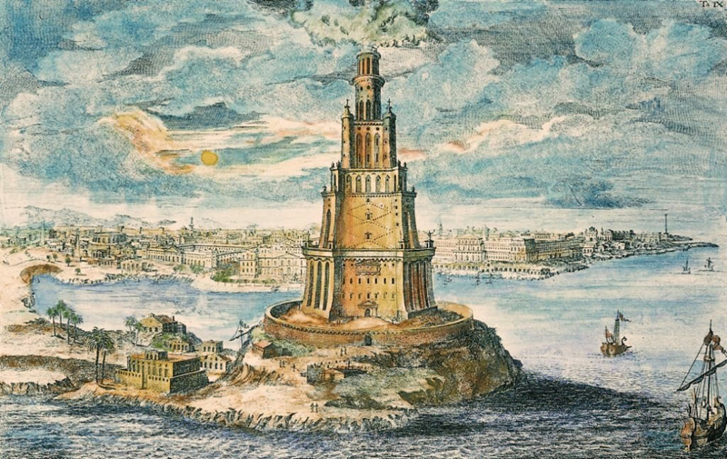 Eye witness accounts of the Lighthouse of Alexandria, one of the ...
